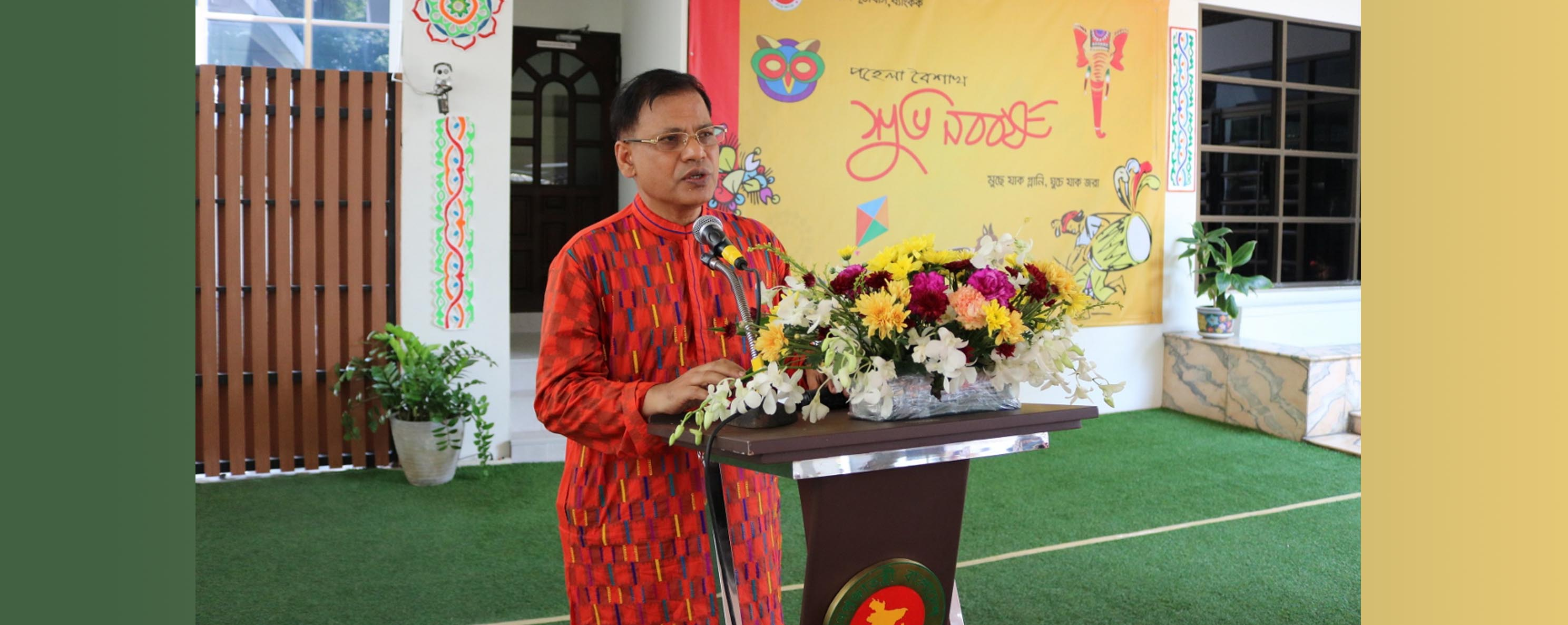"""Expatriate Bangladeshis in Thailand are urged to uphold secular, progressive and tolerant Bengali culture and project the positive image of Bangladesh"", said Md. Nazmul Quaunine, Bangladesh Ambassador to Thailand and Cambodia"