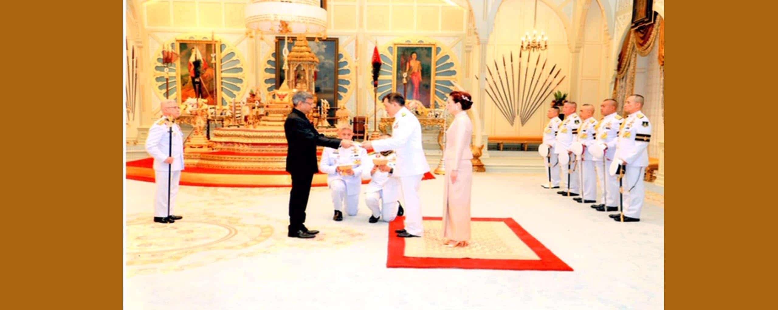 Ambasador of Bangladesh to the kingdom of Thailand H.E. Mr. Mohammed Abdul Hye  is presenting his Credential to His Majesty King of Thailand Maha Vajiralongkorn